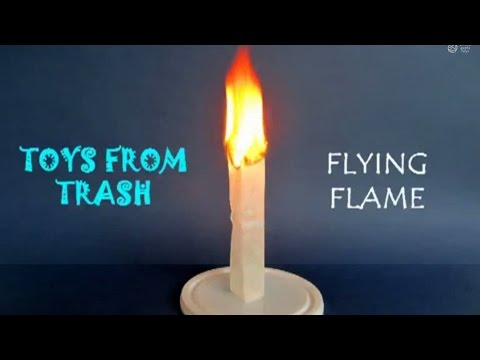 FLYING FLAME - HINDI - A mini HOT AIR BALLOON made from a Tea Sachet!