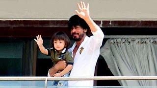 Shahrukh Khan & AbRam Khan 50th BIRTHDAY Celebrations At Mannat