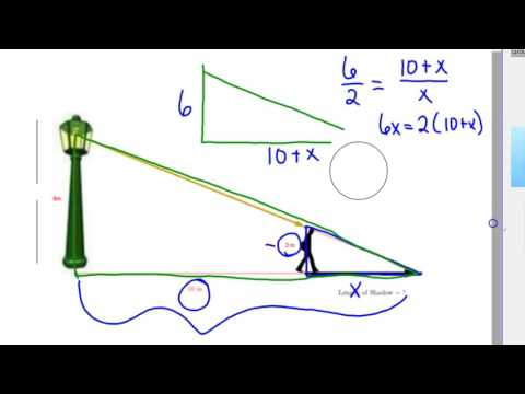Finding missing length similar triangles how