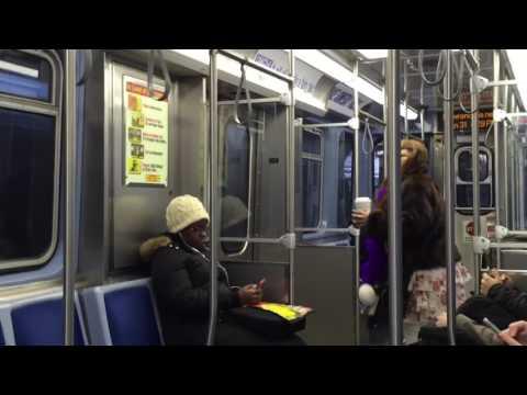 Drunk CTA Passenger grinds it on Train