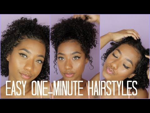 3 One-Minute Hairstyles (Natural Hair)  Tatyana Celeste ❤︎