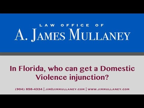 In Florida, who can get a Domestic Violence injunction?
