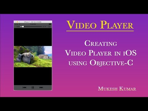 How to create Video Player in Objective-C ?
