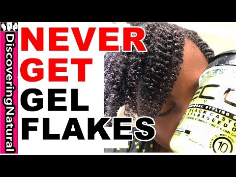 How to NEVER GET FLAKES when using GEL in your HAIR  | Eco Styler Black Castor & Flaxseed Oil