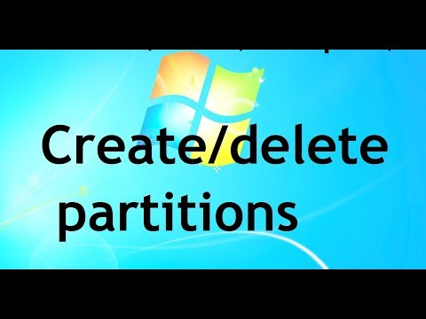 How to create and delete Partitions/drives in Windows