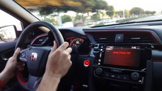 Riding in the Brand New Civic Type R at Metro Honda in Montclair CA