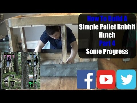 How To Make A Pallet Rabbit Hutch Part 4