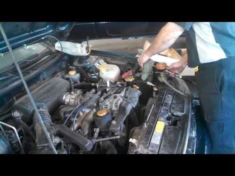 Radiator replacement Subaru Legacy 1995 - 1999 Install Remove Replace How to