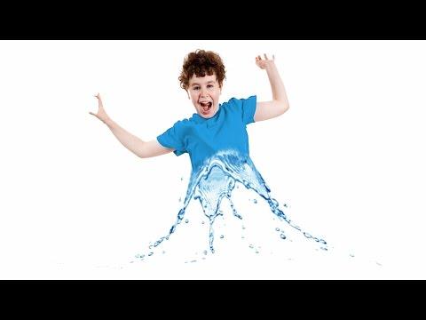 Water splash boy in photoshop tutorial cc