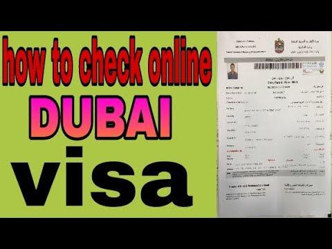 How to check online dubai visa