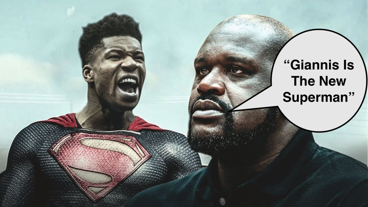 The ONLY Big Man Shaq Respects... #Giannis #Superman