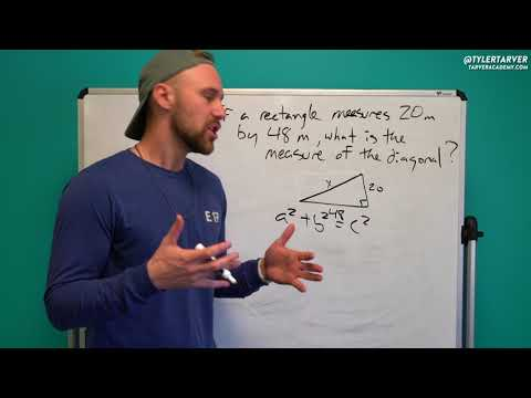 Finding the Measure of the Diagonal of a Rectangle | Problem of the Day #92