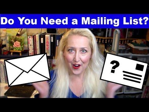 Art Marketing: Do You Need a Mailing List?