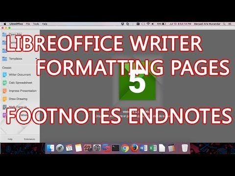 LibreOffice Writer - Formatting Pages   Customizing Footnotes and Endnotes In a Section