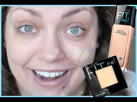 YouTube Made Me Buy It!: Maybelline Fit Me! Matte + Poreless Foundation & Powder