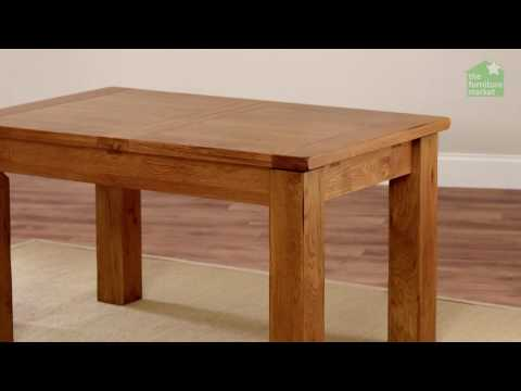 Rustic Oak Medium Extending Dining Table