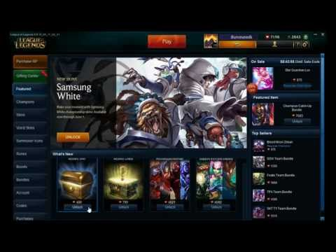 Opening Four Mystery Skins On League Of Legends