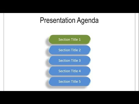Animated Agenda : Practical PowerPoint Animation Series # 2