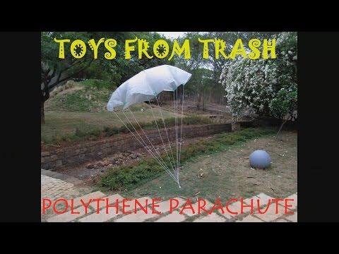 Polythene Parachute | English | Simple gliding toy