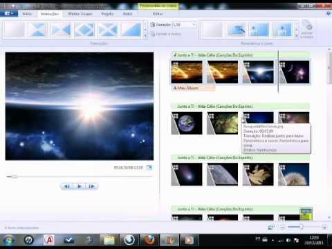 Usando o Windows Live Movie Maker e o Windows DVD Maker