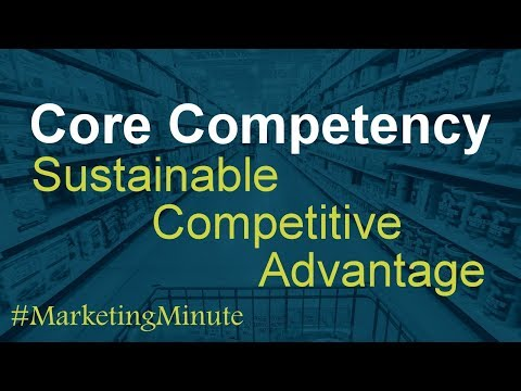 """Marketing Minute 103: """"Core Competencies and Sustainable Competitive Advantage"""" (Marketing Strategy)"""