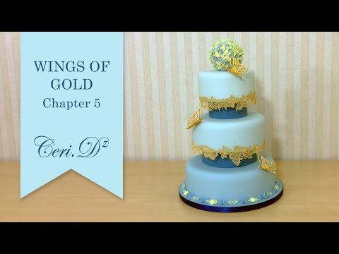 Wings of Gold #5 | Cake Lace Butterflies