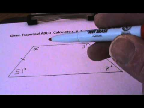 Calculating Angles of Isosceles Trapezoid