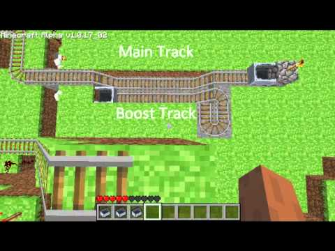 Bob's Minecraft Tutorial 1: Minecart Boosters