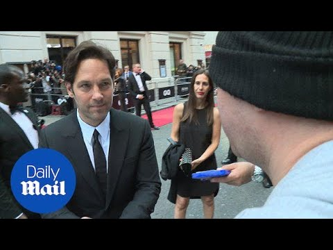 Paul Rudd is all smiles as he signs autographs at GQ awards - Daily Mail