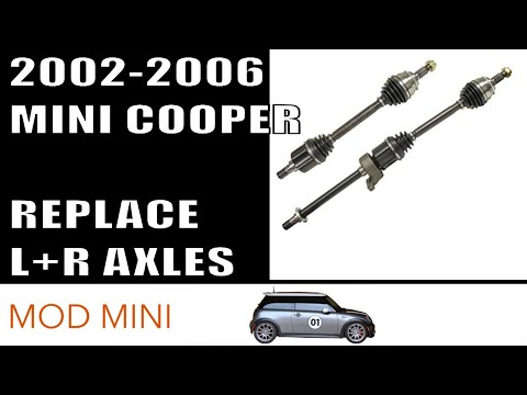 How to replace MINI Cooper Left and Right CV Axles 2002-2006