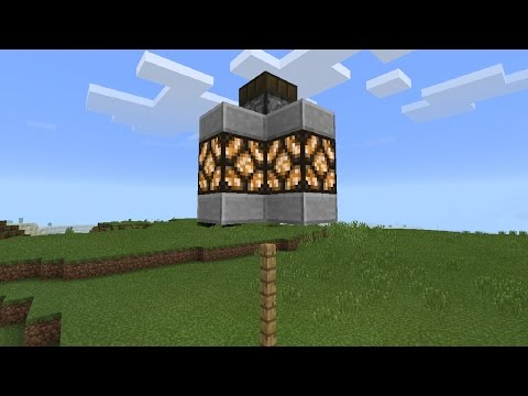 How to make a: Automatic Street Lamp | Minecraft Pocket Edition