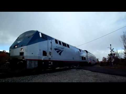 Amtrak Adirondack With Vintage Private Cars