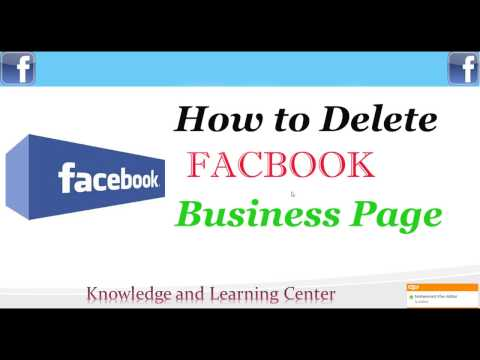 How to delete a facebook business page - Delete Facebook page
