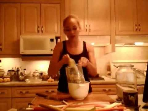 How to Prepare & Store Rhubarb: Kitchen Gardening with Kimberly