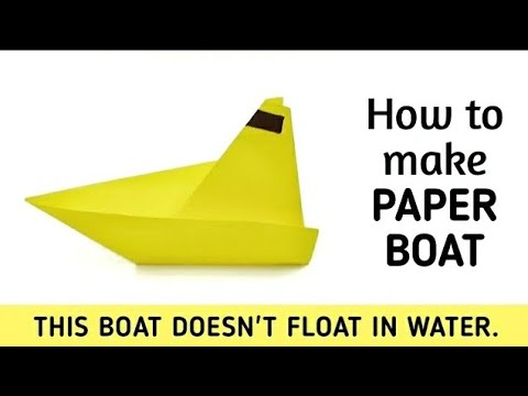 How to make an origami paper boat - 1 | Origami / Paper Folding Craft, Videos and Tutorials.