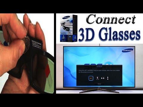 How to use 3D glasses samsung smart tv | how to watch 3d tv