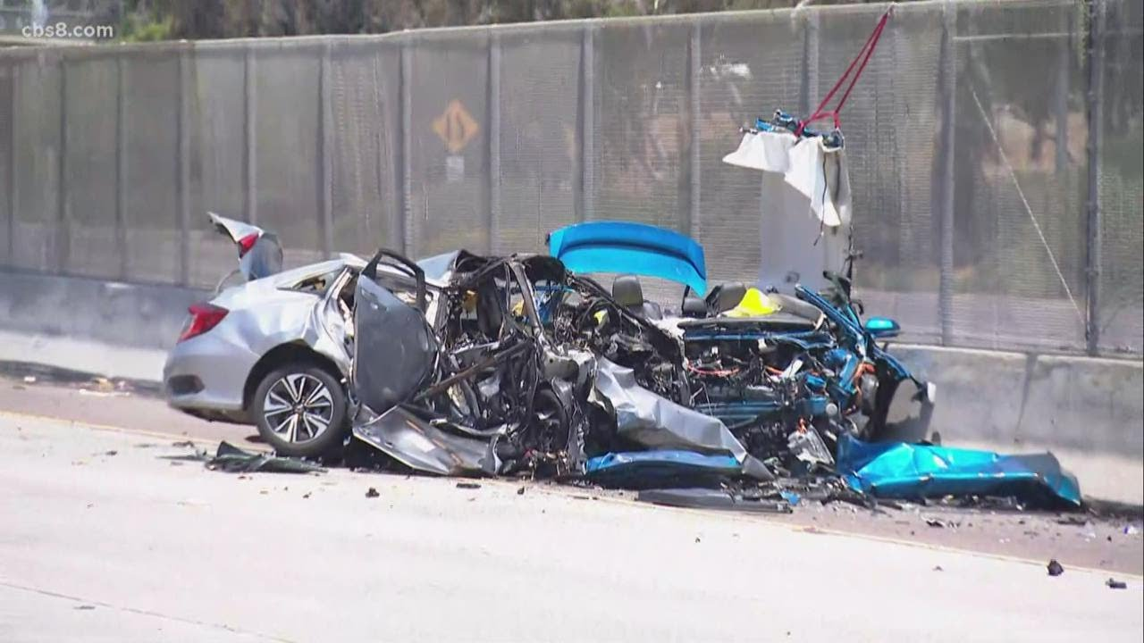 3 killed in fiery wreck involving wrong-way driver on I-5 in San Ysidro