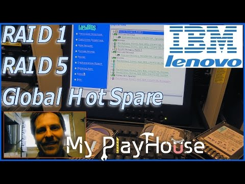 Setting up RAID 1 and RAID 5 on IBM x3650 M3 with a Global Hot Spare  - 339
