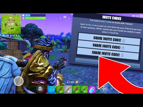 NEW MOBILE FORTNITE GAMEPLAY + DOWNLOAD CODE GIVEAWAY