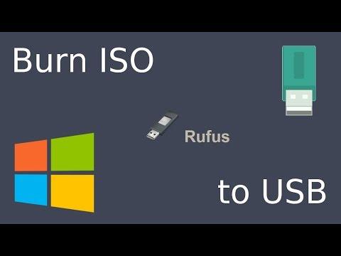 Windows - Burn Iso to USB