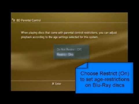 PS3 Parental Controls