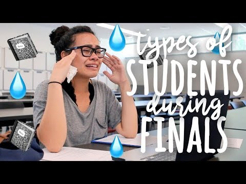 Types of Students During Finals Week! | SimplyMaci