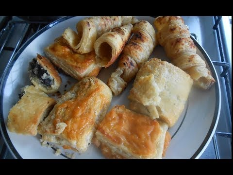 Quick Puff Pastry dough recipe using Vegan butter (Mauritian Custard Feuilleté) without oven