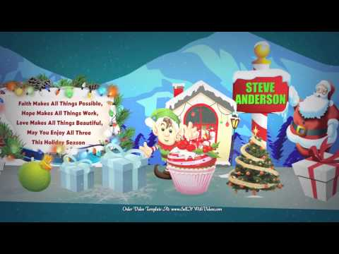 AMAZE Your Friends & Family Send Christmas Greeting Videos - Low Cost Video Templates