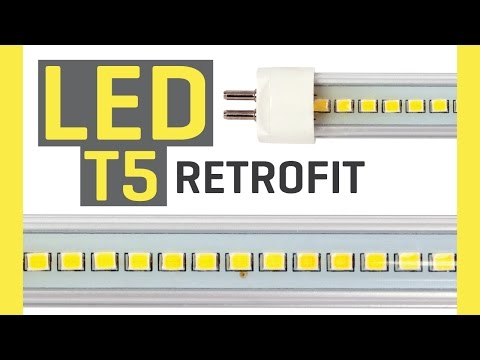 T5 Fluorescents to LED Grow Light Retrofit