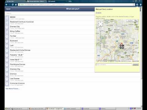 how to create new (places) location on facebook