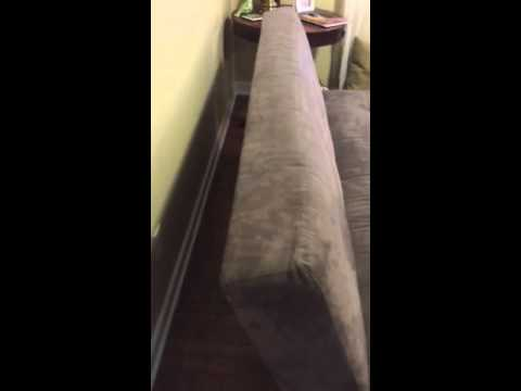 How to fold down the couch/futon into a bed