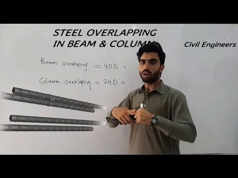 How to calculate the over-lapping length of steel bars in slab,column and beam