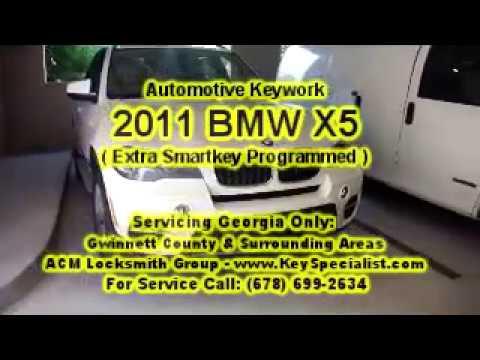 2011 BMW X5 - Spare Smartkey Programmed to system. Locksmith Duluth, GA