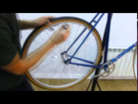 How to dish a gear wheel for a single speed use using a spoke key